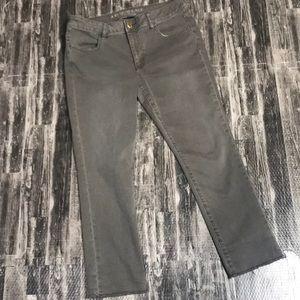 AEO super super stretch green jeans jegging crop